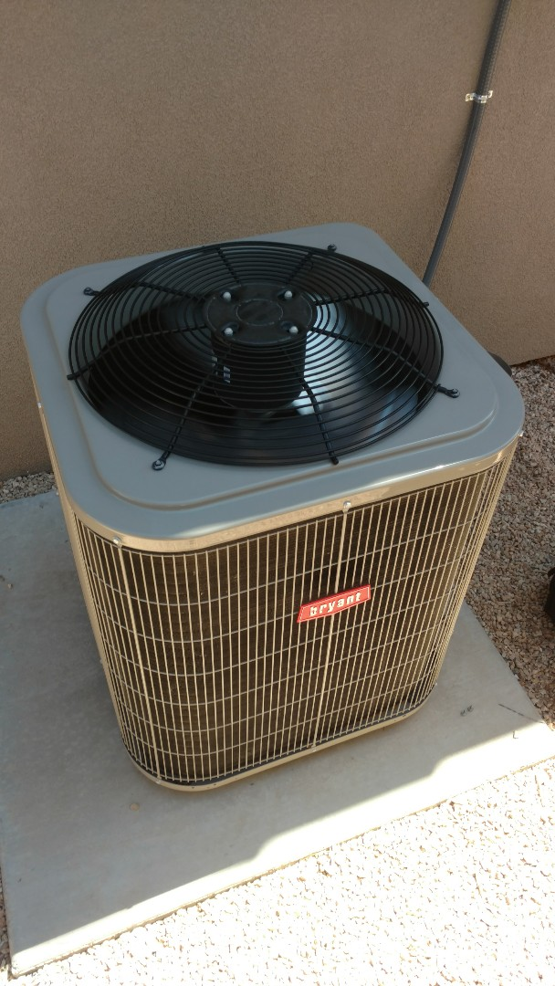 Washington, UT - Dixie Heating and Air Conditioning replacing bad dual capacitor on Bryant AC split system