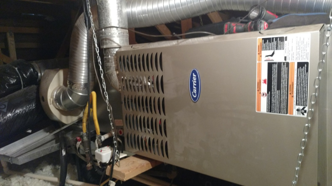 St. George, UT - Dixie Heating and Air Conditioning replacing bad blower motor on Carrier furnace