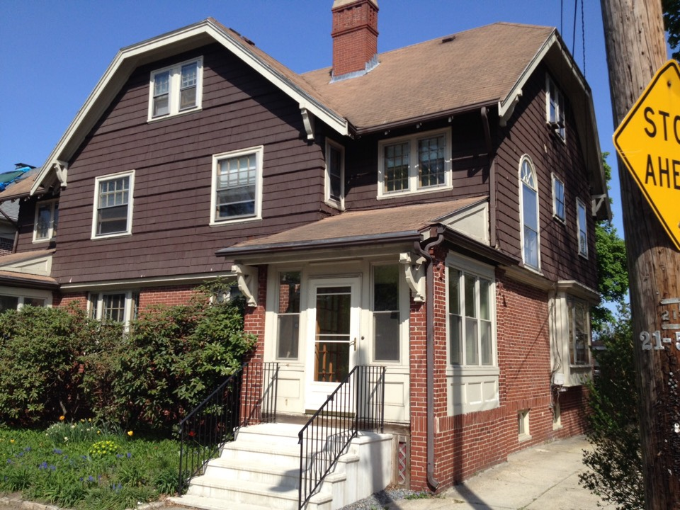 Providence, RI - Helping this 1915's home with more Renewal by Andersen fibrex double hung and picture windows. This is phase 2!