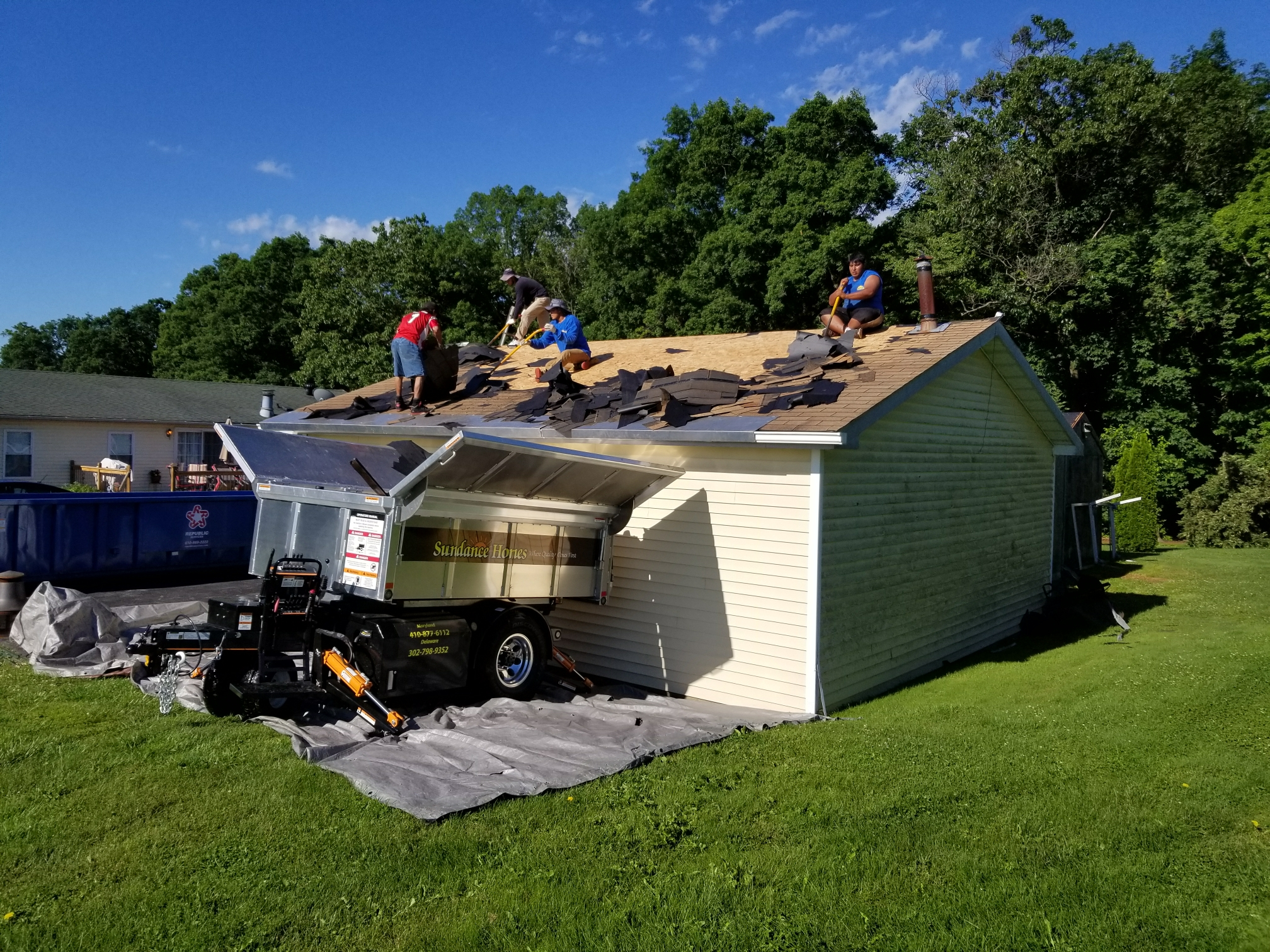 Elkton, MD - Starting a roof replacement today on a garage