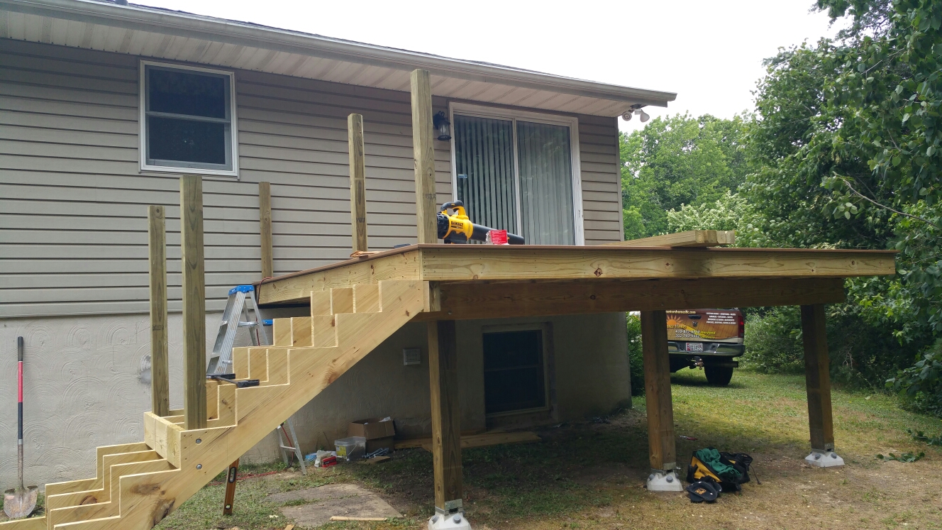 North East, MD - Building a new treated deck