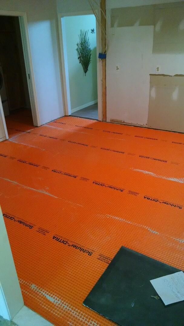 Queen Anne, MD - Paul.. new ditra mat install for new tile