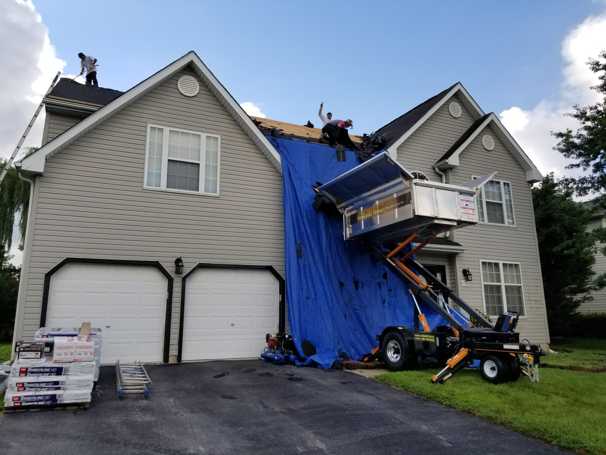 Newark, DE - Starting a GAF Timberline HD Lifetime Roof Replacement today