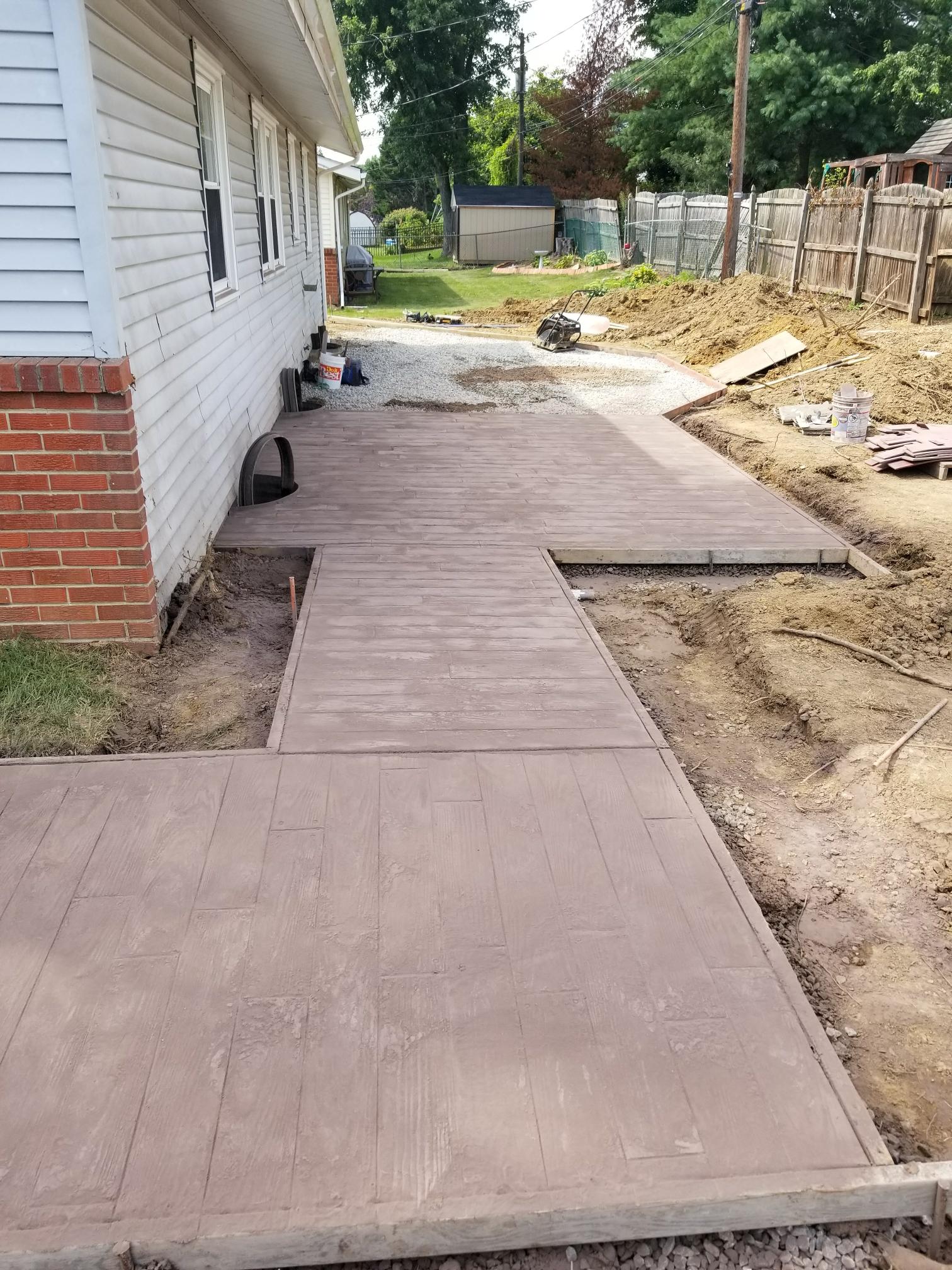 Newark, DE - Installing a stamp concrete patio