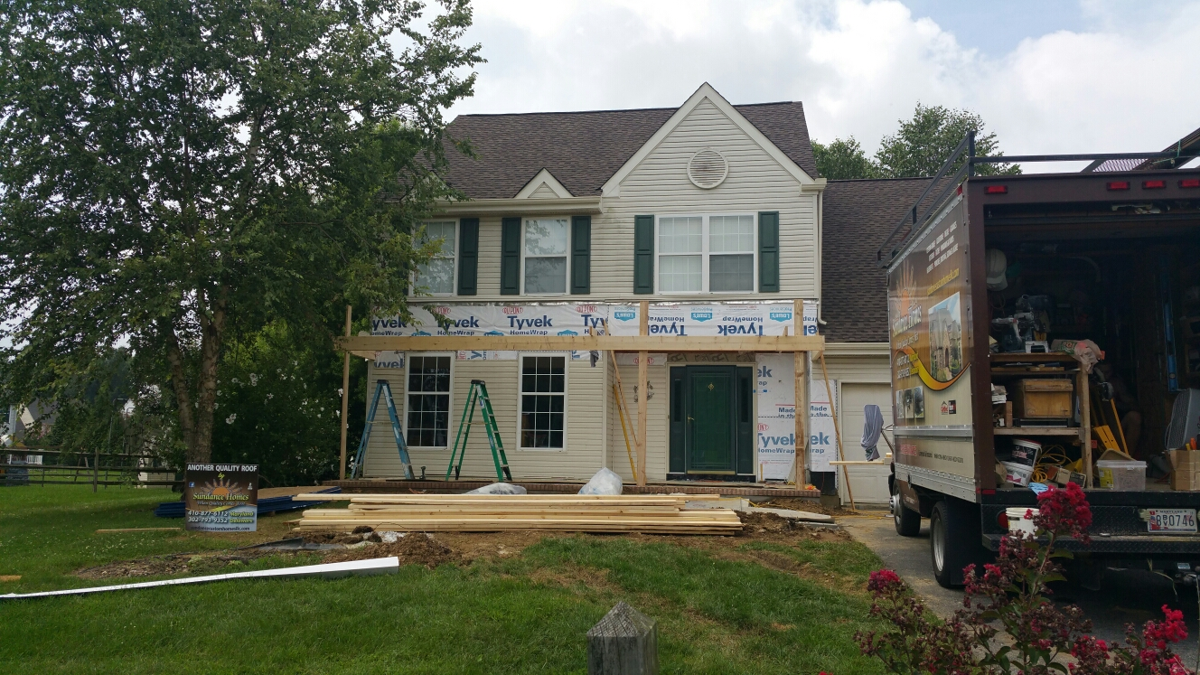 Newark, DE - Framing a new porch roof