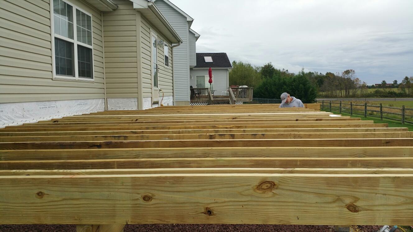 Middletown, DE - Building a new deck