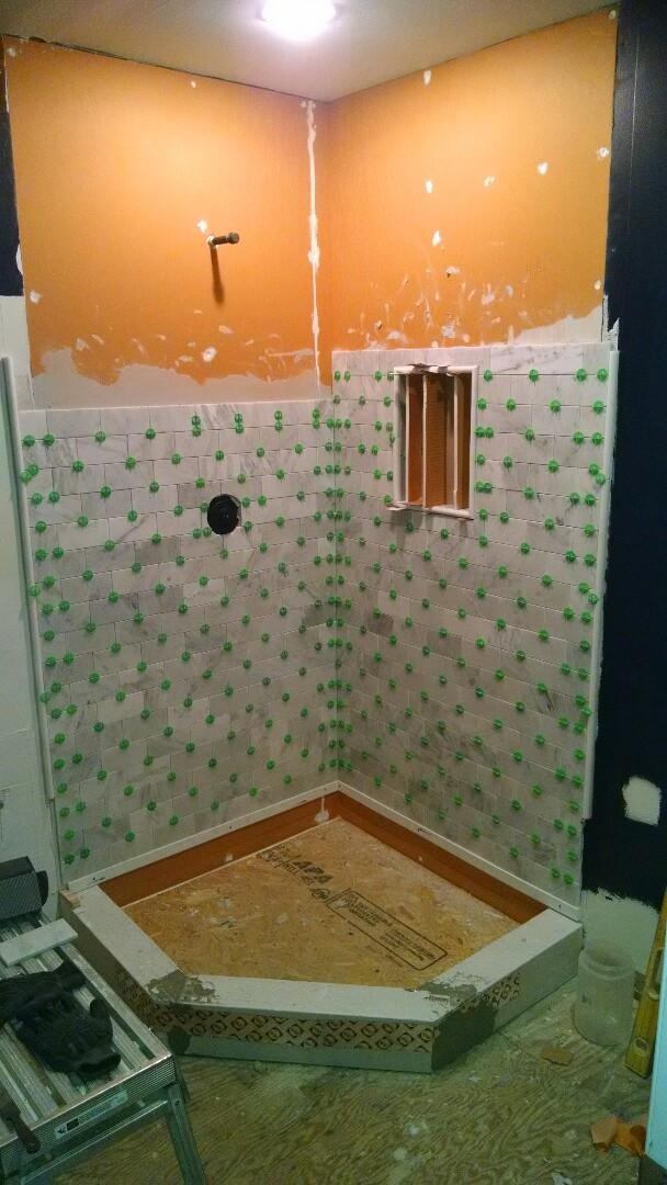 Stevensville, MD - Marble shower in the works