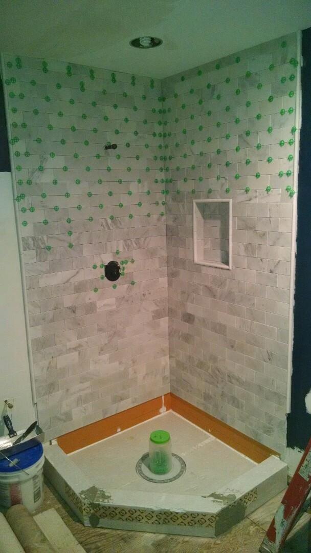 Stevensville, MD - Marble bathroom shower
