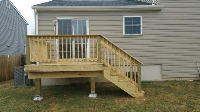 Bear, DE - We just finished this ECO Life treated deck project for an existing customer.