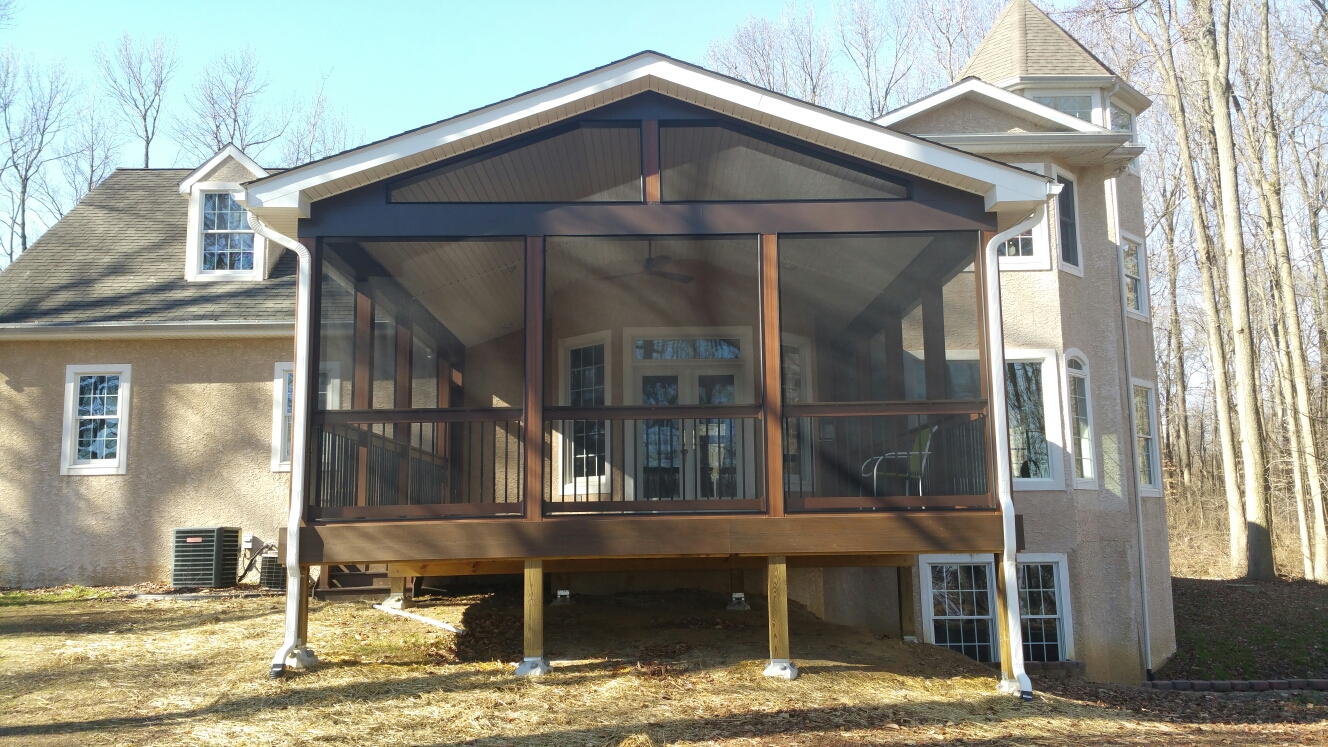 Middletown, DE - New screen porch completed