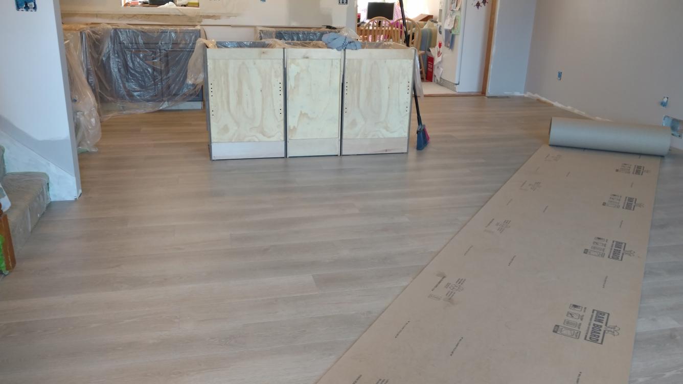 Townsend, DE - Installing new Pergo Flooring