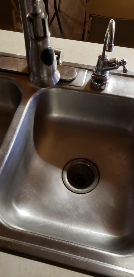 Plumbing repair. Leaking kitchen sink faucet in Lehighton near Country Junction.