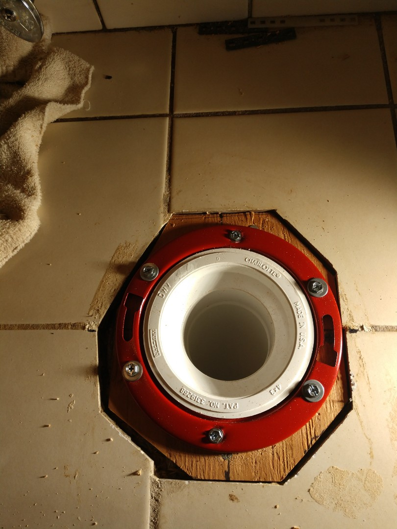 Replaced toilet flange