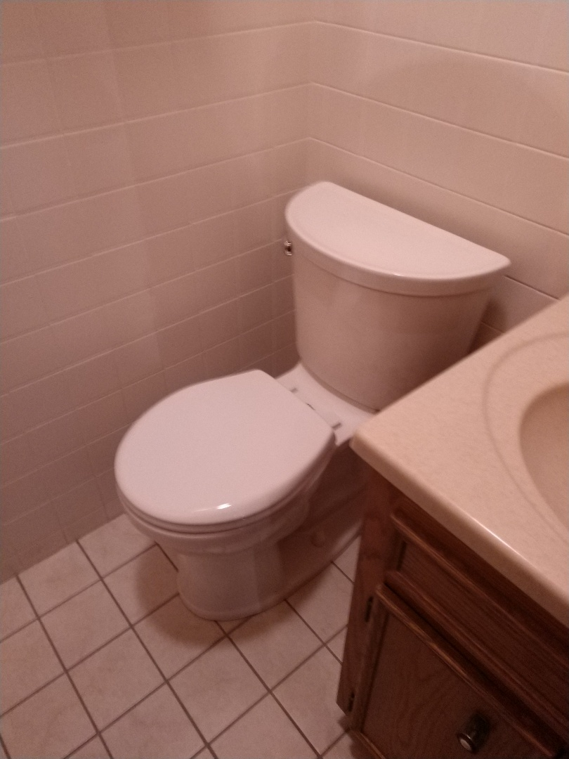 Replaced old toilet with customer supplied toilet