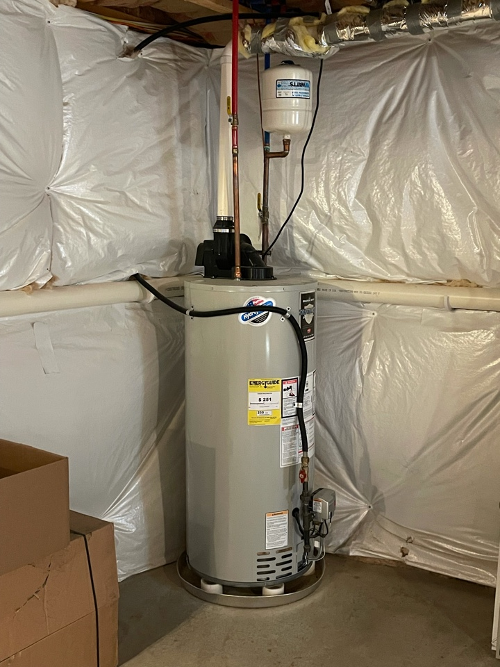 Dresher, PA - Evaluating a water heater leak and a potential gas leak. PlumbPRO Services Dresher PA 19025