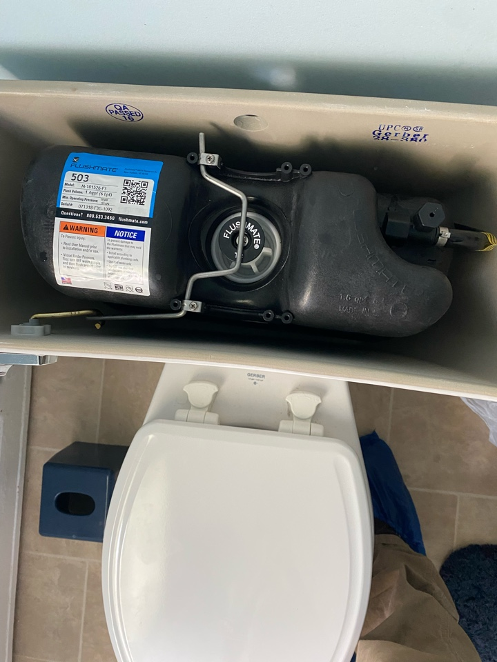 Willow Grove, PA - Weak flushing toilet due to needing a new cartridge and upper supply line. Ambler Plumber getting it done.