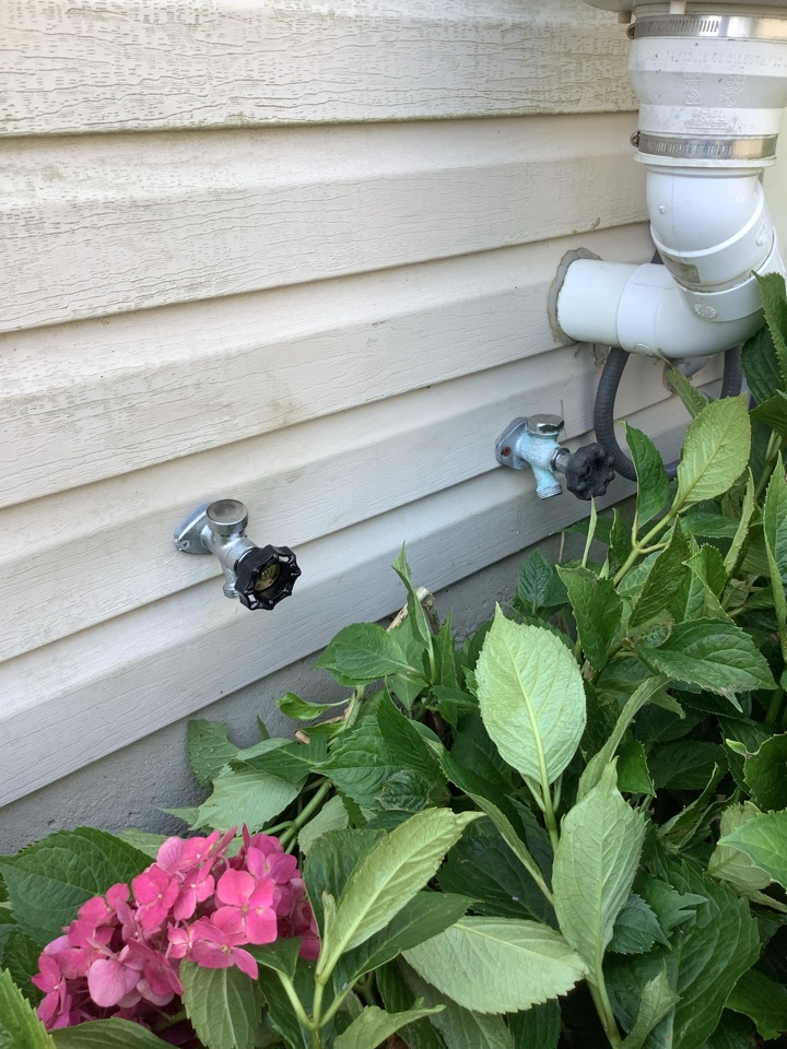 Chalfont, PA - Added second hose faucet  to the rear side of the house for soft water. Rebuilt three toilets