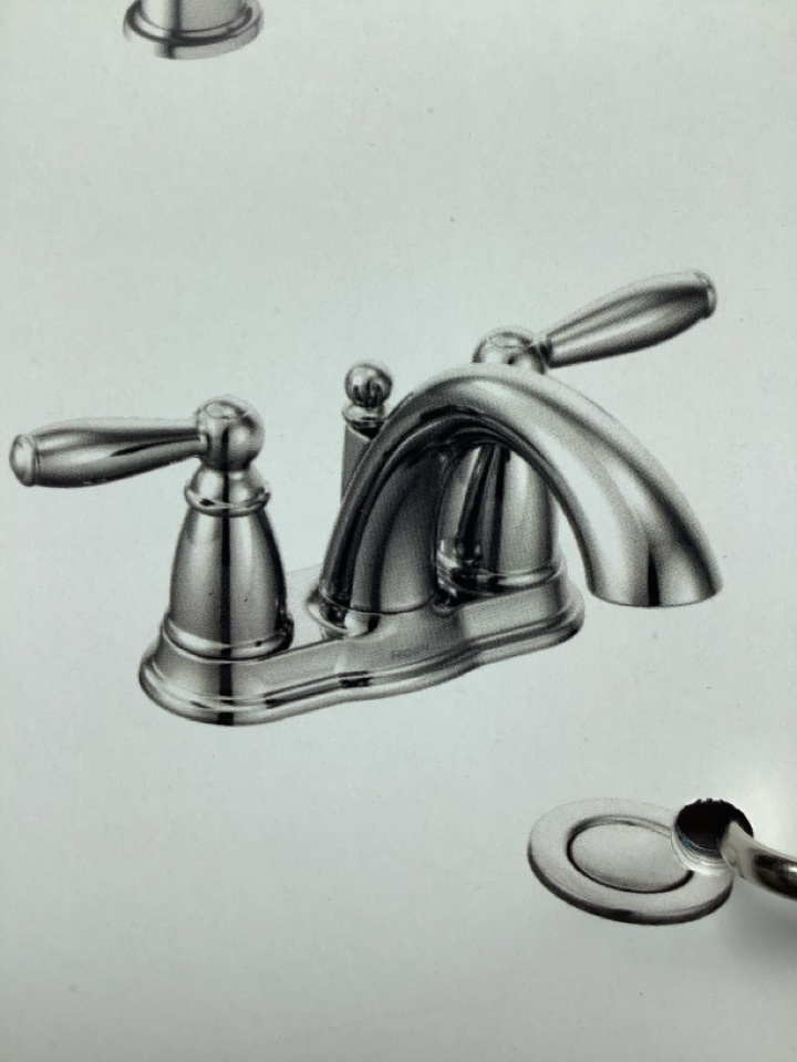 """Ambler, PA - New lavatory faucet 4"""" spread in blue bell"""