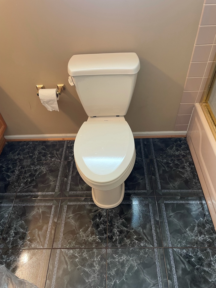 North Wales, PA - Toilet replacement and flange repair in North Wales.