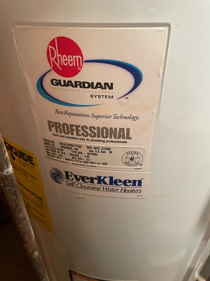 Glenside, PA - A proactive water heater replacement before the existing water heater starts to leak we will replace it. We will install a 50 gallon Bradford white natural gas atmospheric vent water heater