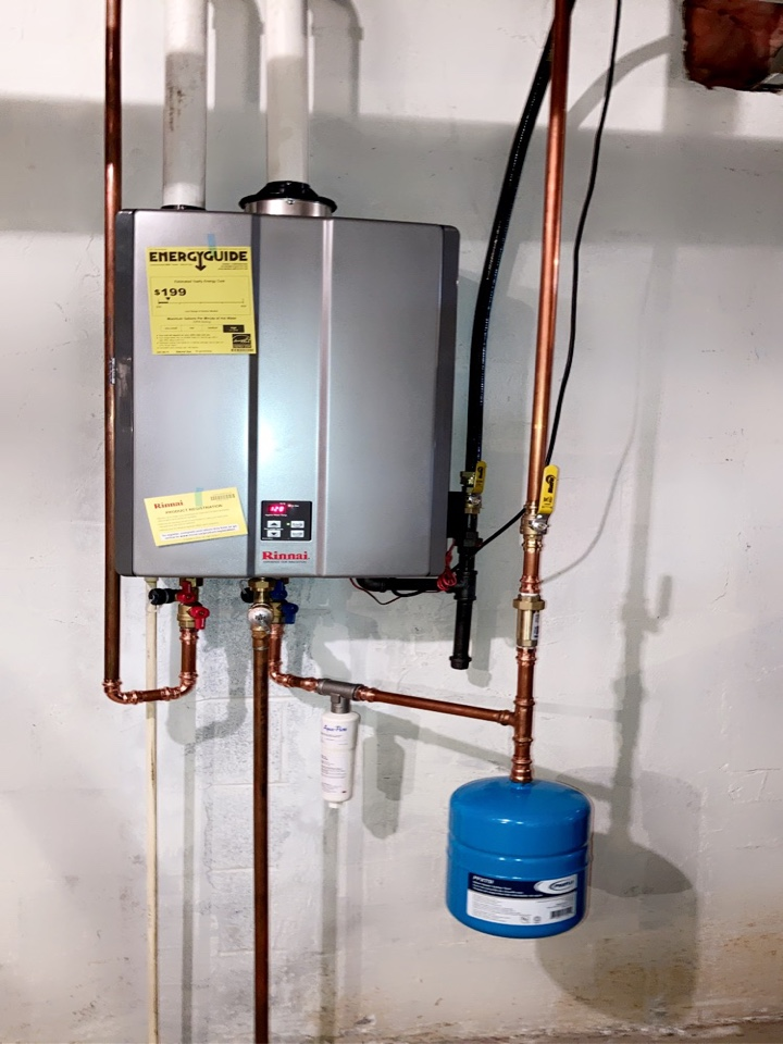 Hatboro, PA - New tankless water heater with expansion tank. Gary and Anthony the dream team.