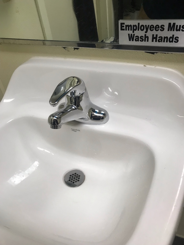 Warrington, PA - Toilet renovation, pull and reset of toilet. New commercial faucet.