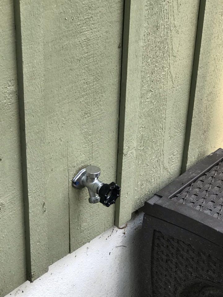 Doylestown, PA - New rear hose faucet. Doylestown plumbers.