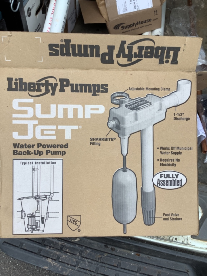 North Wales, PA - Install a new liberty SJ 10. Install water powered back up sump pump. PlumbPro Services. LNorth Wales plumber.