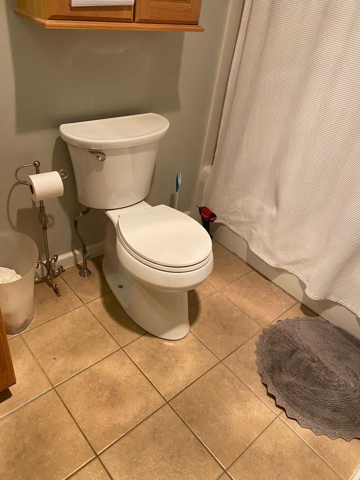 Chalfont, PA - Reset toilet with new wax seal to stop leaking into garage ambler plumber .