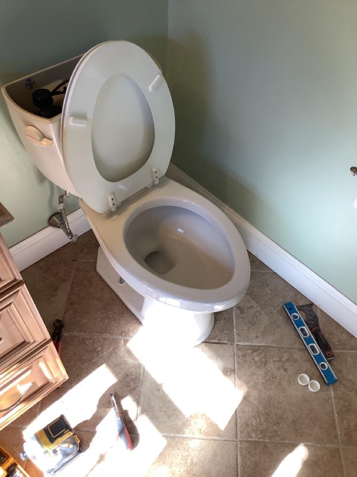 Horsham, PA - Install a new Gerber avalanche. Install a new toilet. PlumbPro Services. Horsham plumber.