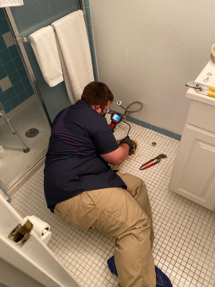 Inspecting toilet line for leaks ambler plumbing .