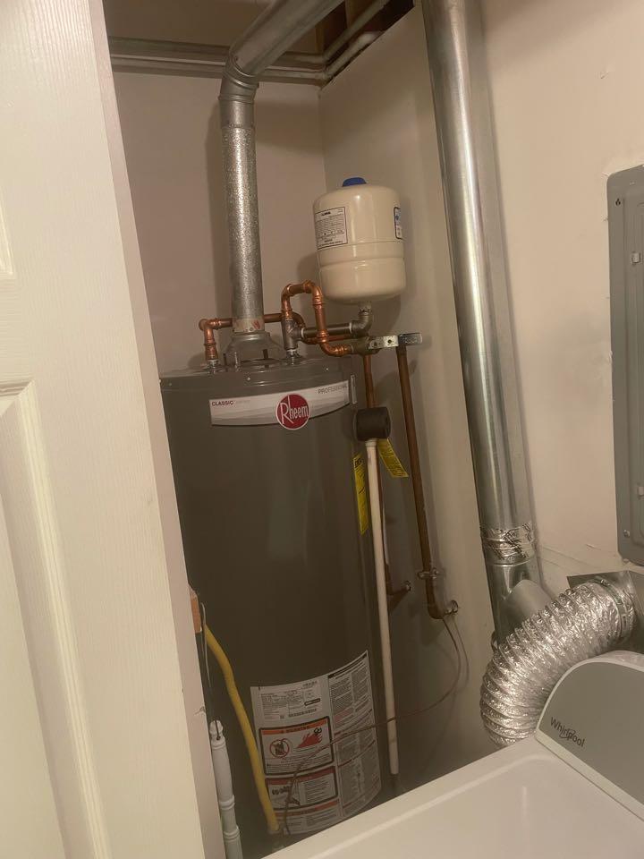 Water heater install