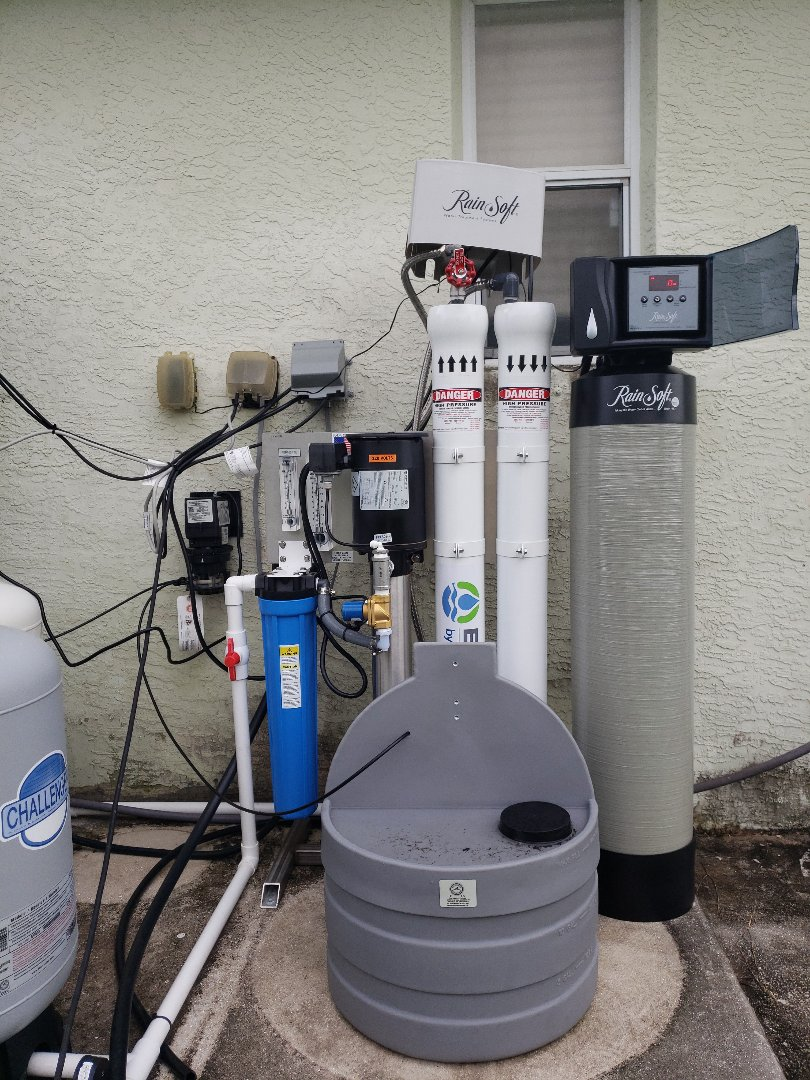 Doing a Customer Care call for Coastal Energy, Water & Air to inspect a newly installed Rainsoft water treatment system.