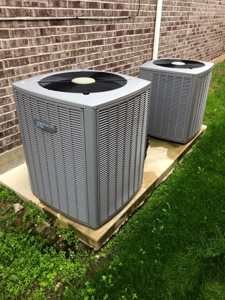 Argyle, TX - Performing fall tuneup on two Armstrong Air heat pumps in Argyle