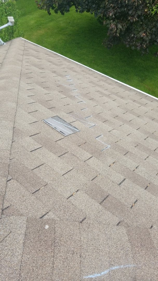 Canton, OH - Found storm damage/wind damage in Perry twp. Silver leaf Contracting helped get the roof approved!