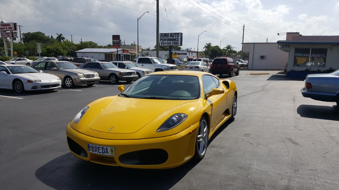 Oil change on a Ferrari at Your local European car specialists. Euro Auto Performance
