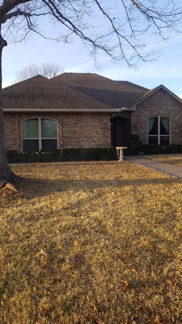 Cleburne, TX - Installed new gutters on front and back.  We also replaced rotted wood on both back doors.