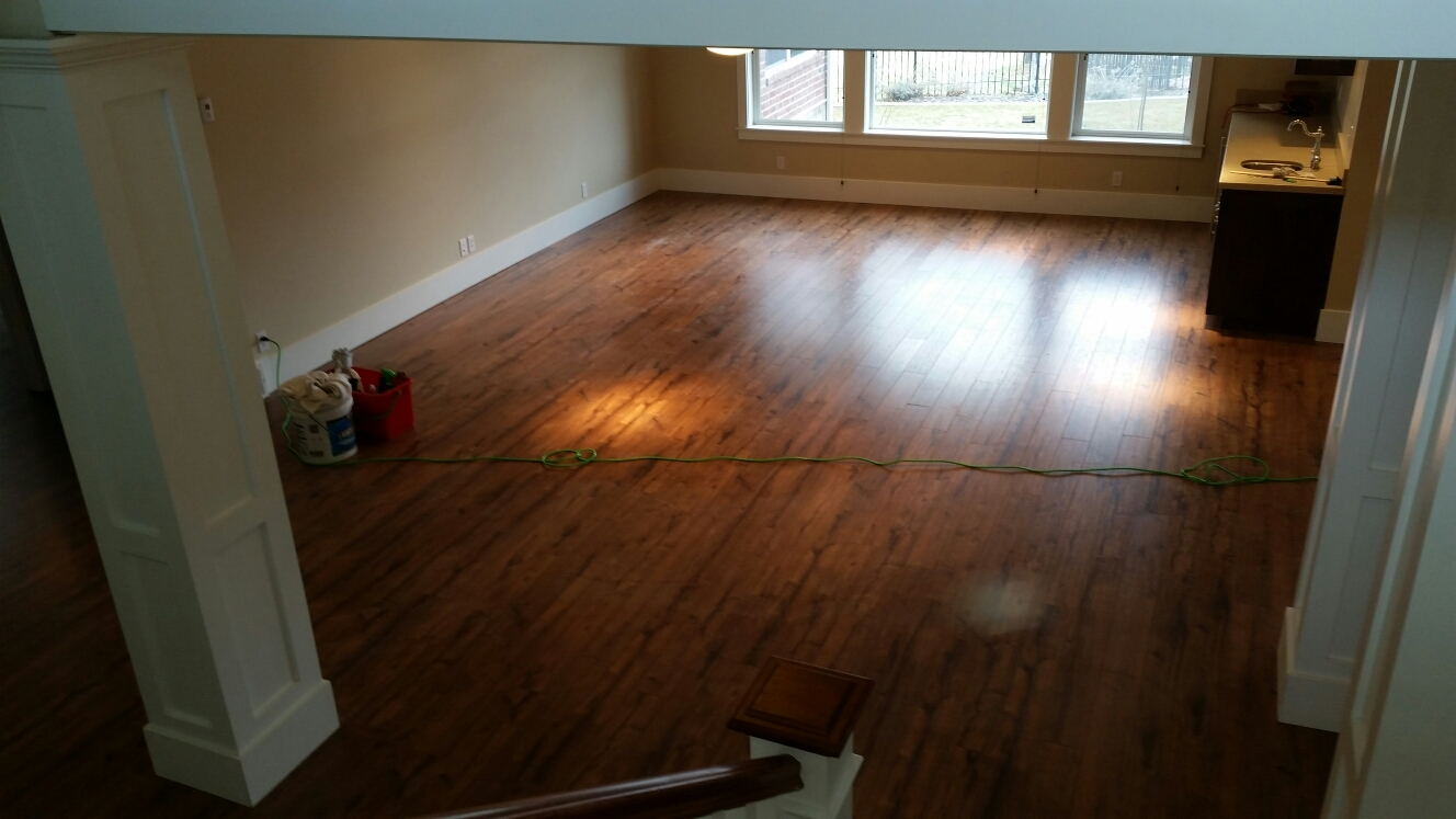Bountiful, UT - Just finished installing a laminate flooring and painting 3 storage areas.