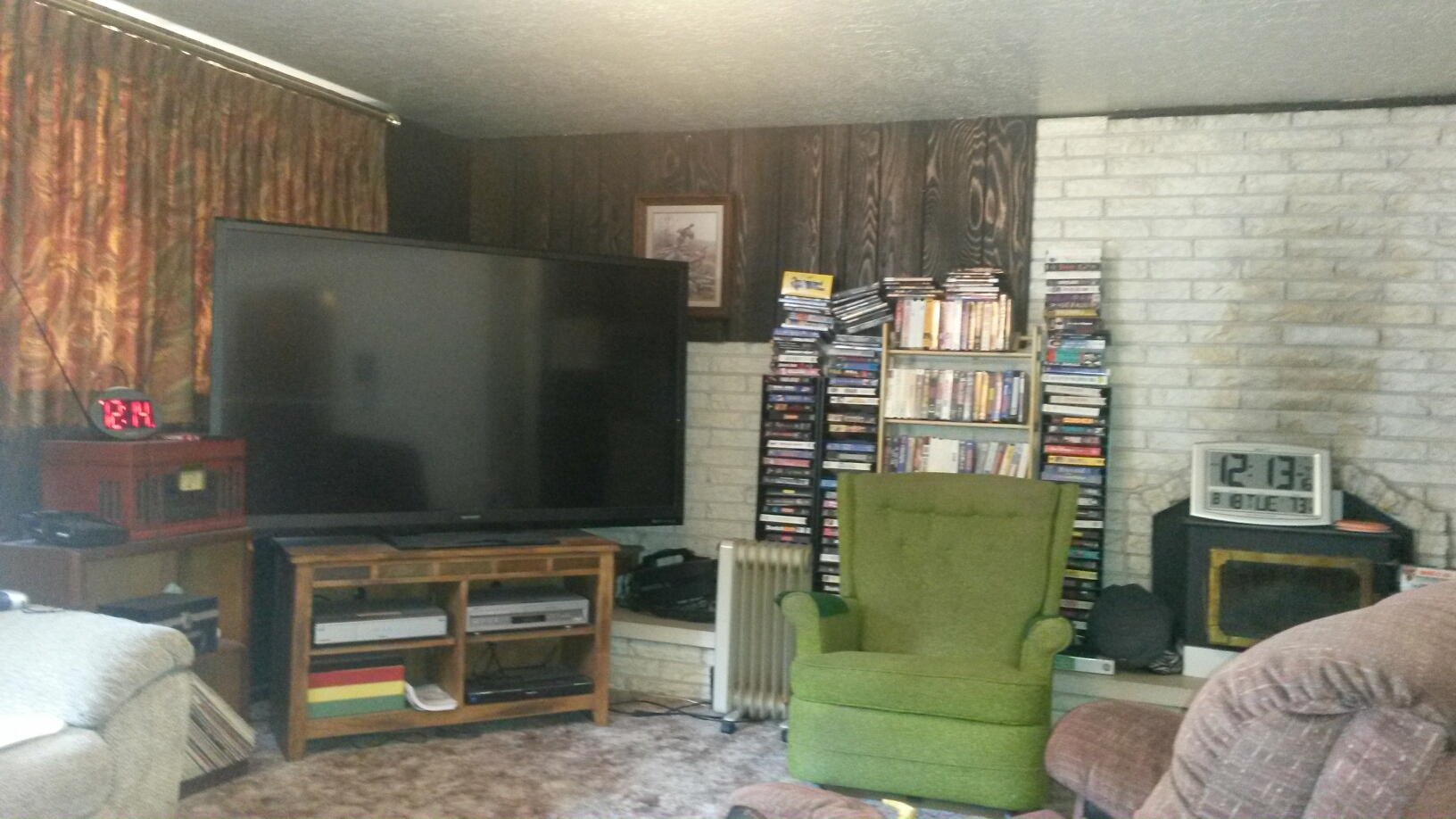 Kaysville, UT - This is the man cave/ family room for this bachelor and senior citizen.  He was concerned about mold. The good news is we did not find any mold or evidence of mold.