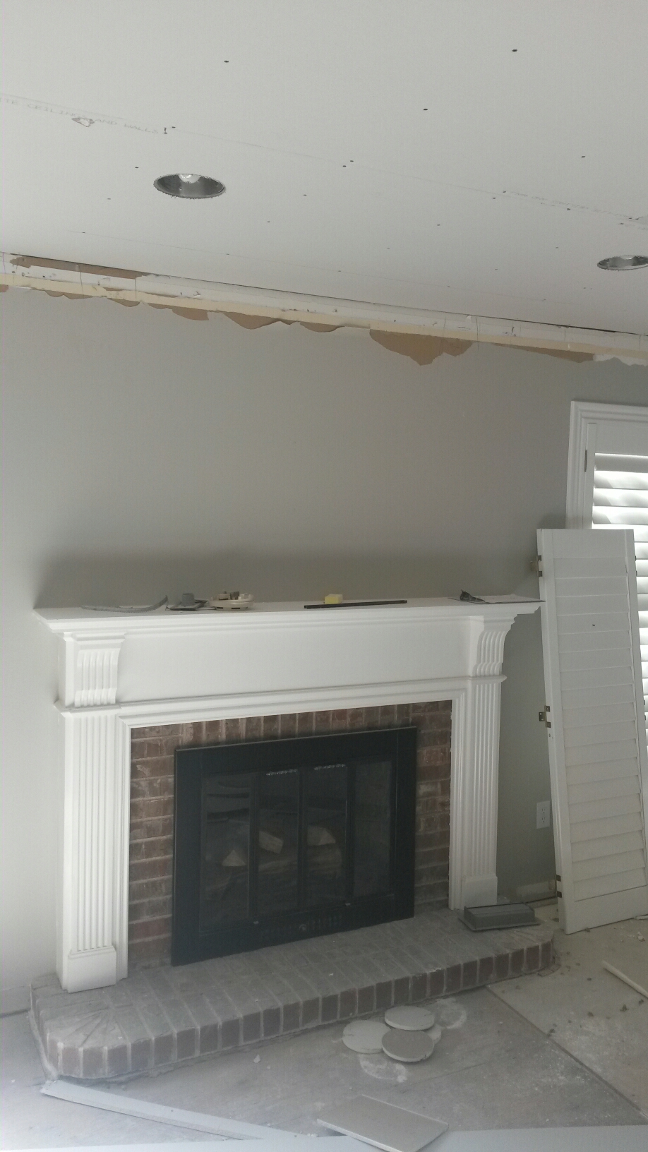 Layton, UT - Water damage repairs in Layton Utah. The electrical insulation and drywall repairs are progressing nicely. We will soon be ready to start finish carpentry and painting. And eventually it will be as good as or better than it was before the water damage.