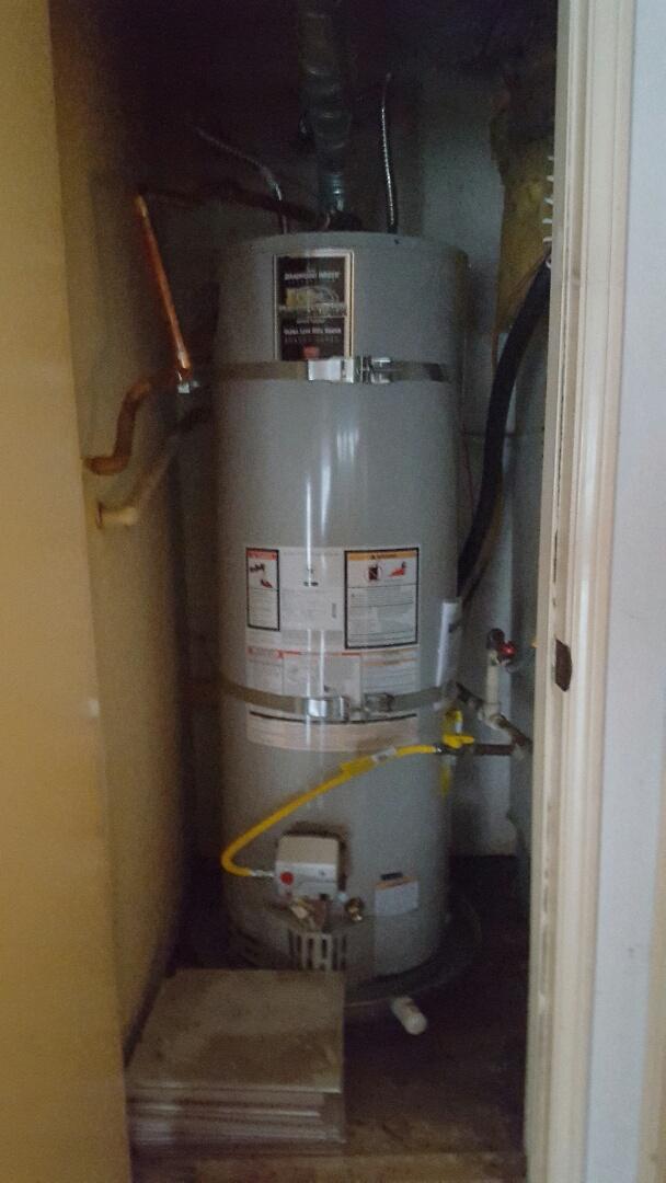 Chino Hills, CA - Install 50 gallon water heater