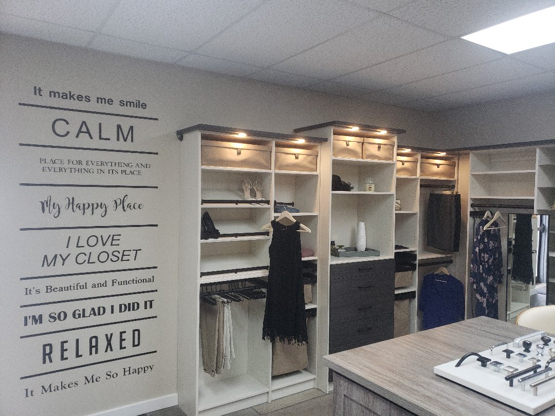 Granger, IN - Some new closet features being added to our Granger showroom this winter.