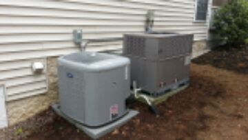 2 system preventive maintenance on high efficiency Carrier air conditioning and gas furnace s.