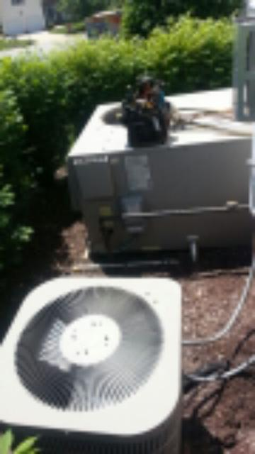 2 system preventive maintenance on Goodman air conditioning systems.