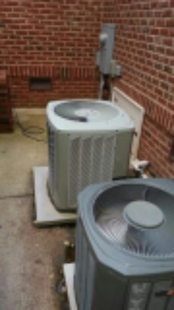 demand service on 8 Year old Trane air conditioning system