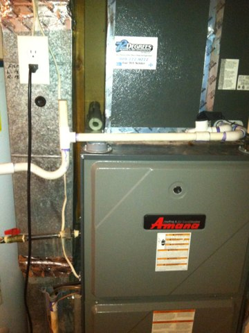 Performed maintenance for amana split ac in Raleigh nc