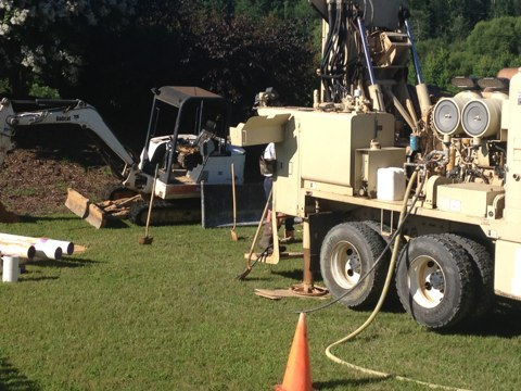 Wake Forest, NC - Tom Paonessa At a Geothermal Job