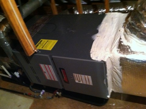 Doing a annual heat maintenance on an Amana natural gas furnace
