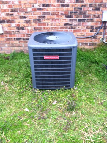 Here for demand service on a Goodman heat pump split system