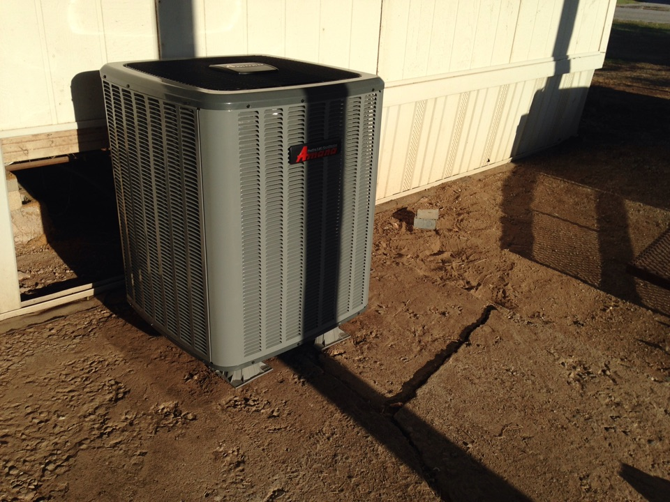 Chattanooga, OK - Just finished installing a new Amana heating and cooling system